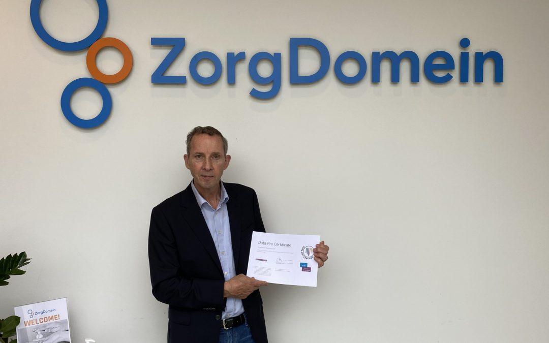 ZorgDomein is Data Pro gecertificeerd!