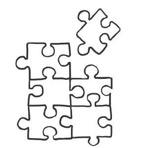 puzzelstukjes (bijna af) antraciet